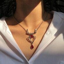 Halskette mit Halloween Spinnen Dekor