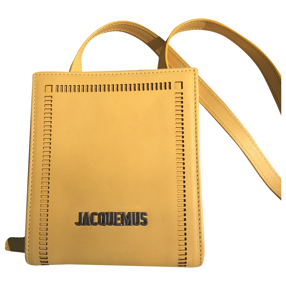 Jacquemus Le Gadjo Yellow Leather Small bag, wallet & cases for Men \N