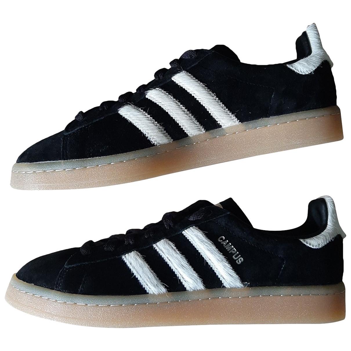 Adidas \N Black Suede Trainers for Men 42 EU