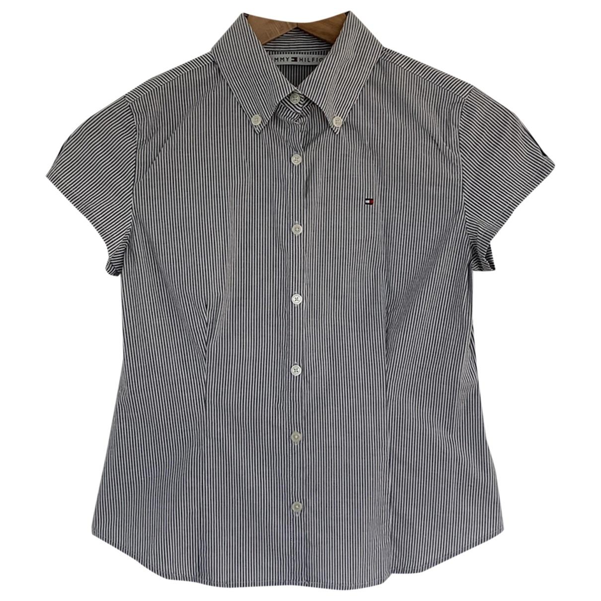 Tommy Hilfiger - Top   pour femme en coton - gris