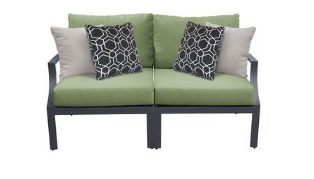 Lexington LEXINGTON-02a-CILANTRO 2-Piece Aluminum Patio Set 02a with Left Arm Chair and Right Arm Chair - Ash and Cilantro