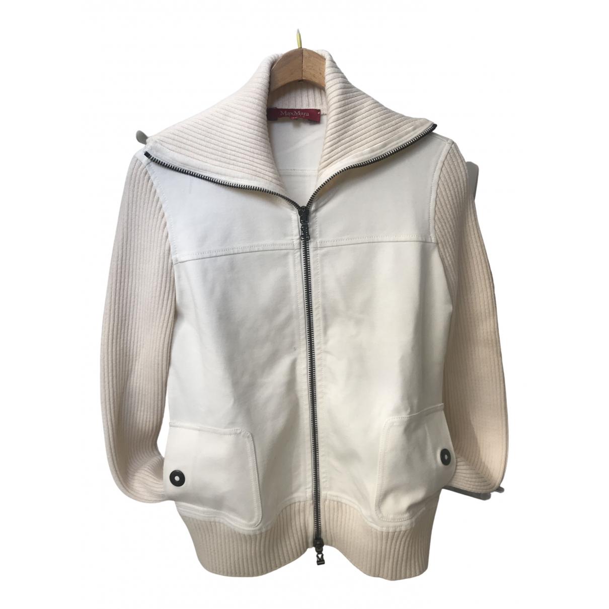 Max Mara Studio - Veste   pour femme en laine - blanc