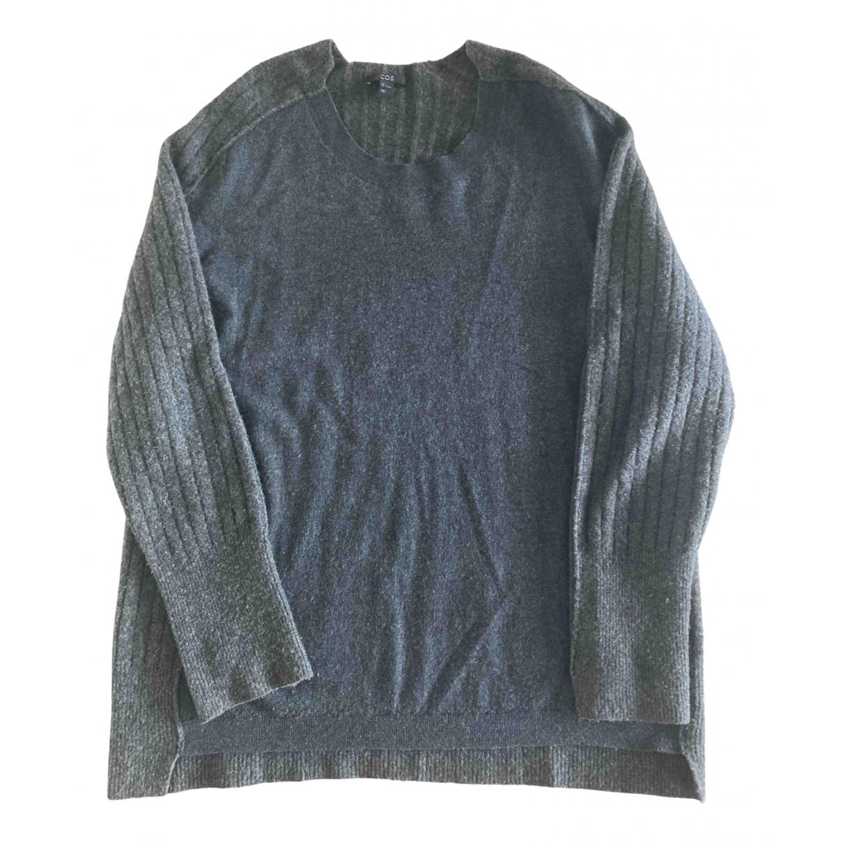 Cos - Pull   pour femme en laine - gris