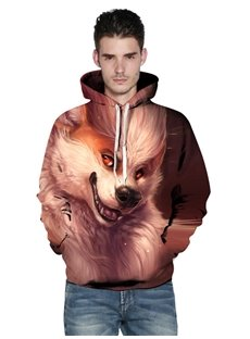 Pullover Funny Graphic Unisex Casual Kangaroo Pocket 3D Painted Hoodie