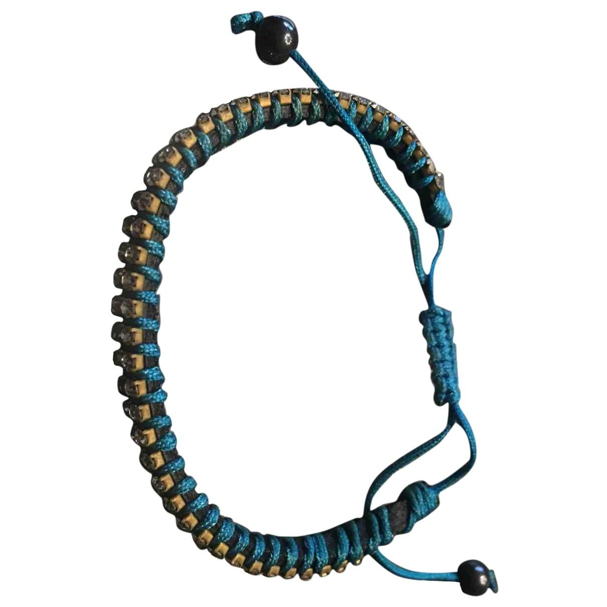Non Signé / Unsigned \N Blue Cloth bracelet for Women \N
