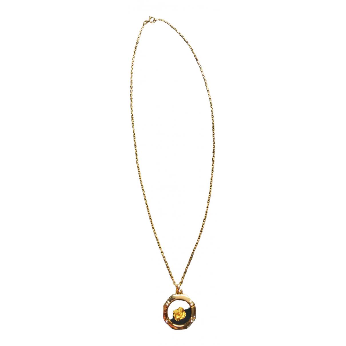 Vintage 55 - Collier   pour femme en plaque or - dore