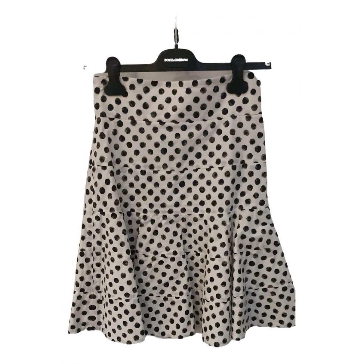 Dolce & Gabbana \N White Cotton skirt for Women 40 IT