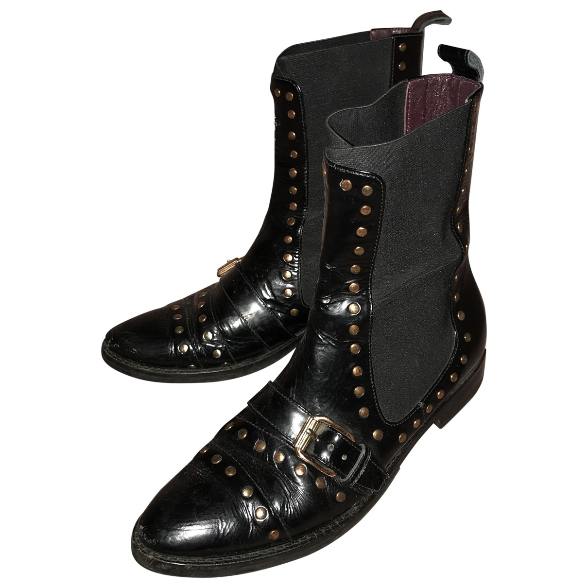 Opening Ceremony \N Black Leather Ankle boots for Women 39 EU