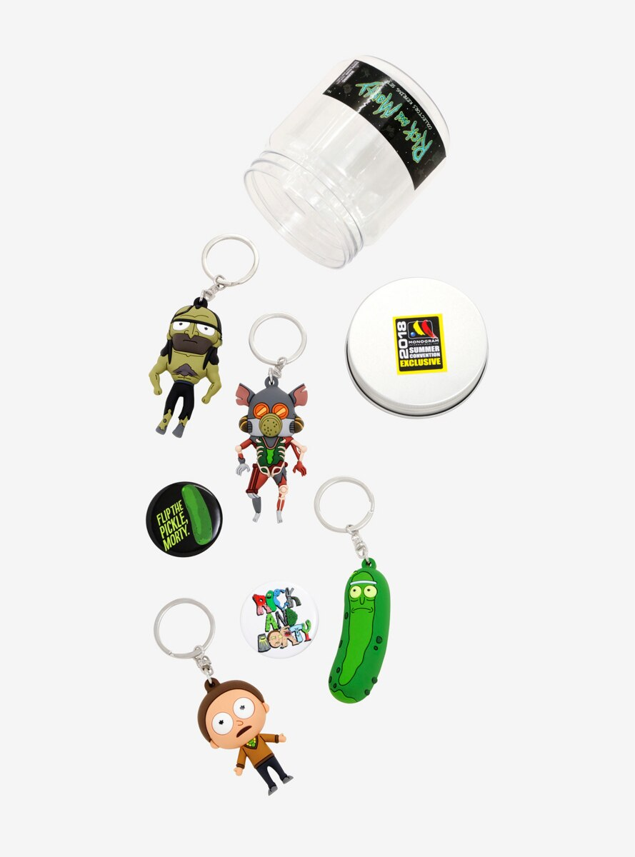 Rick And Morty Figural Key Chain Set - 2018 Summer Convention Exclusive