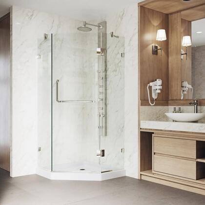 Piedmont Collection VG6062BNCL38WS Frameless Neo-Angle Shower Enclosure With Low-Profile