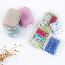 1pc Portable Pill Storage Box