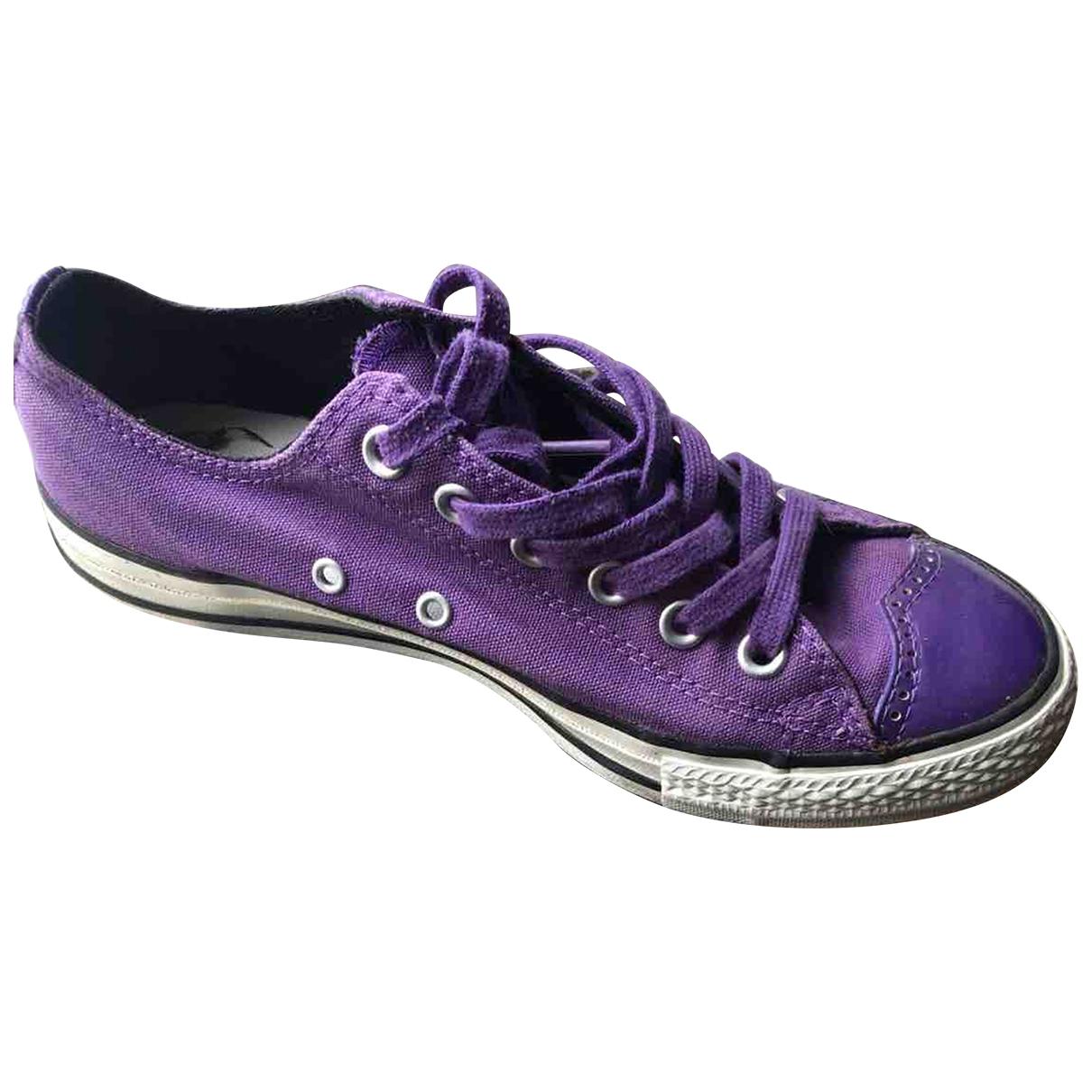 Converse \N Sneakers in  Lila Leinen