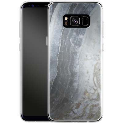 Samsung Galaxy S8 Silikon Handyhuelle - Desaturated Marble von Emanuela Carratoni