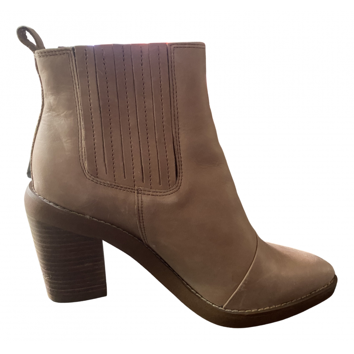 Tony Bianco N Camel Leather Boots for Women 39.5 EU