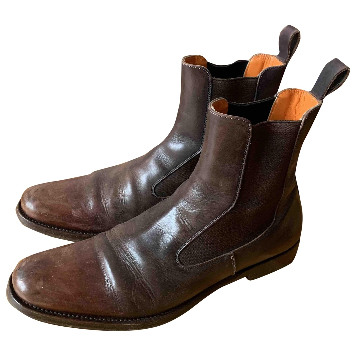 Santoni \N Brown Leather Boots for Men 42 EU