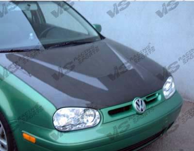 VIS Racing 99VWGOF2DVS-010C Carbon Fiber Invader Hood Volkswagen Golf IV 99-06