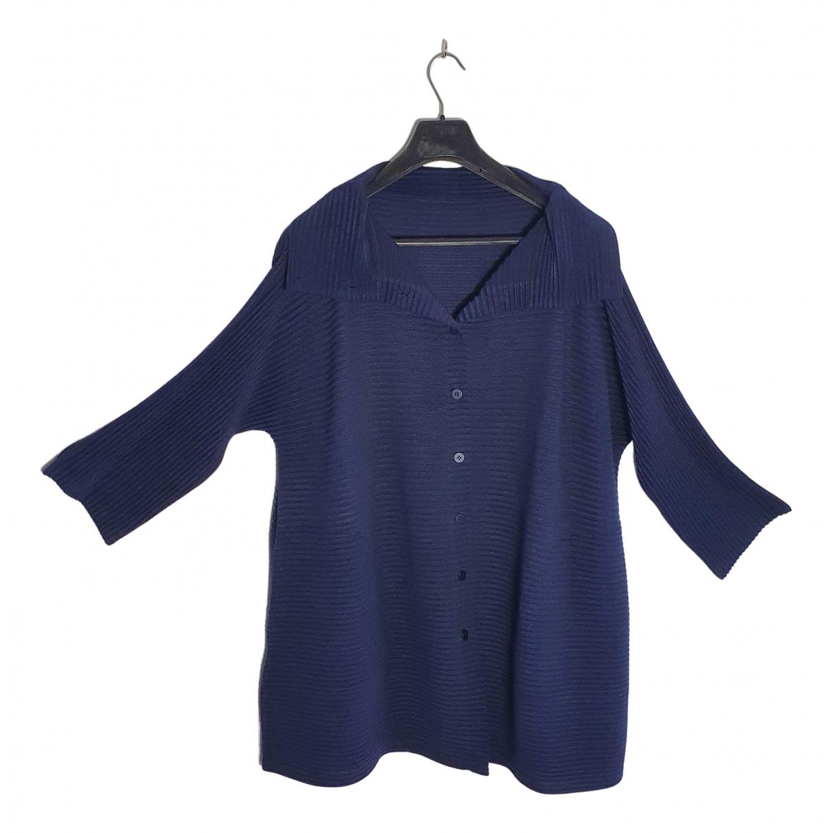 Issey Miyake \N Pullover in  Blau Polyester