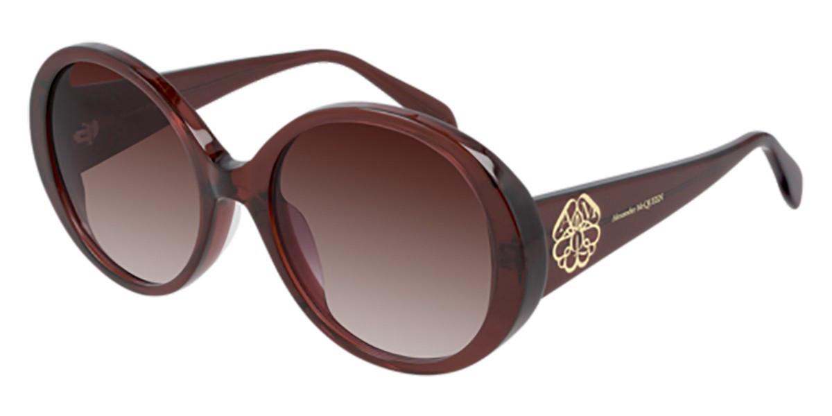 Alexander McQueen AM0285S 005 Women's Sunglasses Burgundy Size 57 - Free RX Lenses