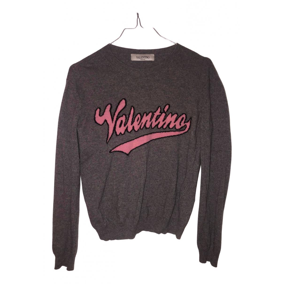 Valentino Garavani N Grey Wool Knitwear for Women XS International