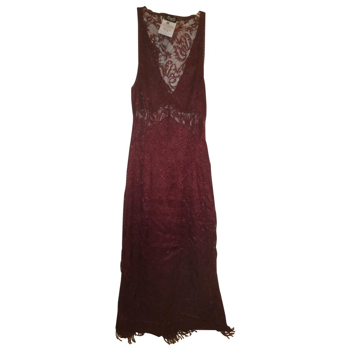 D&g \N Burgundy Lace dress for Women 38 IT