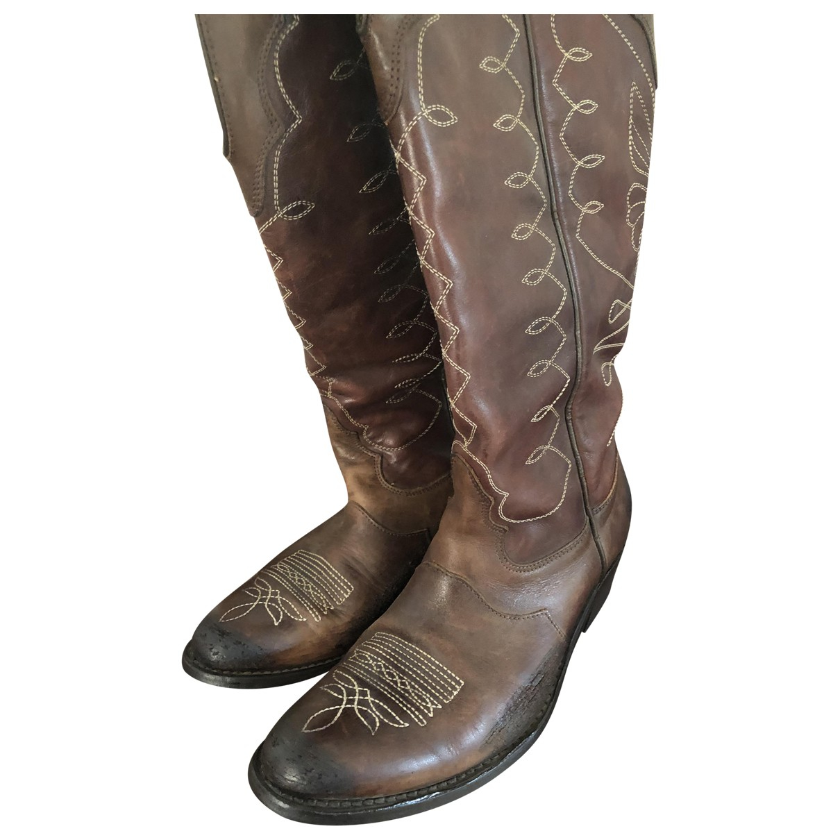 Golden Goose \N Brown Leather Ankle boots for Women 39 IT