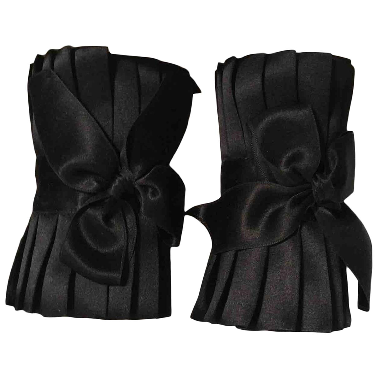 - Gants   pour femme en soie - noir