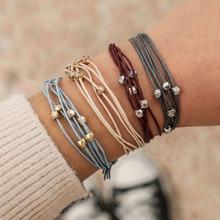 Multi-layered String Bracelet Set 4pcs