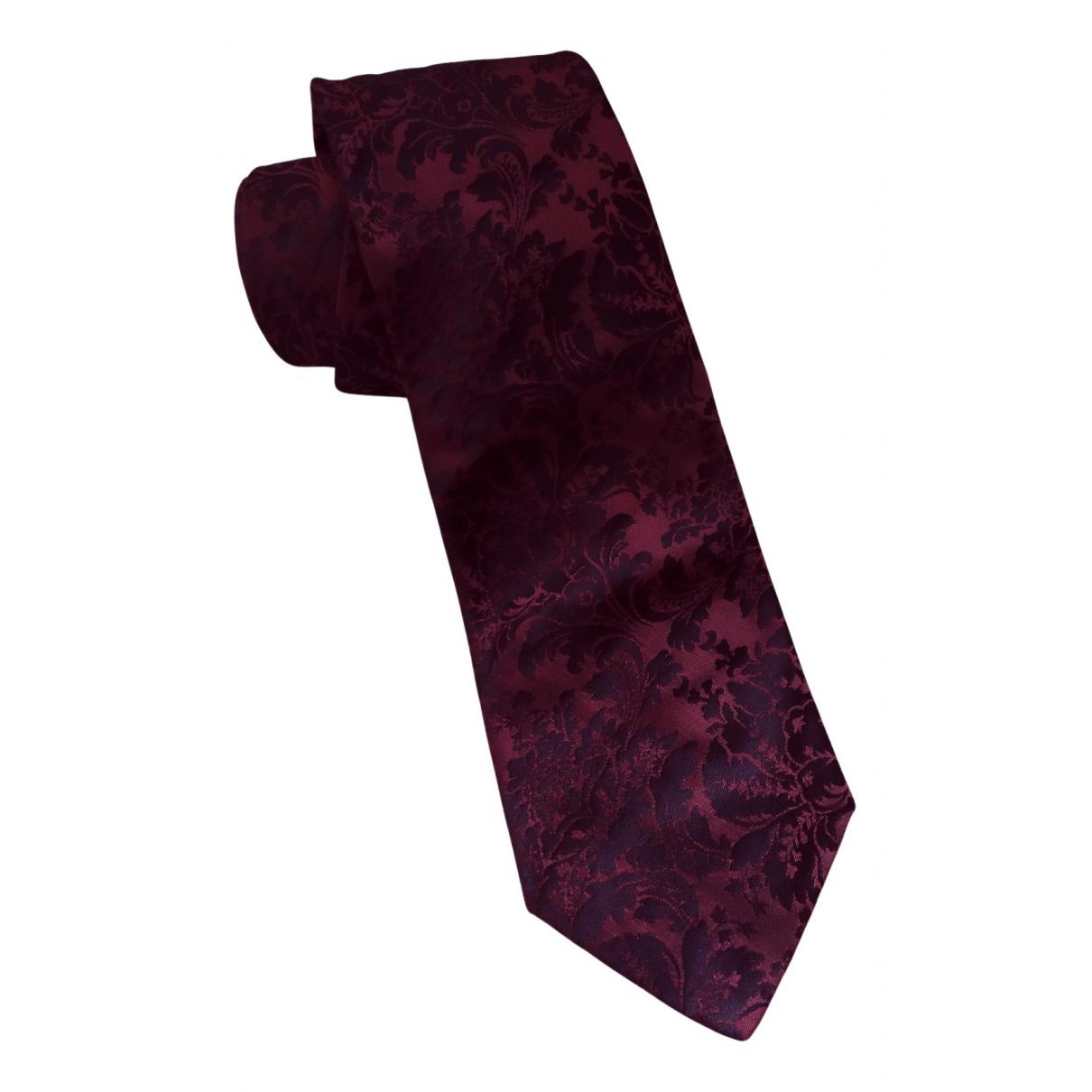 Zara \N Krawatten in  Bordeauxrot Seide