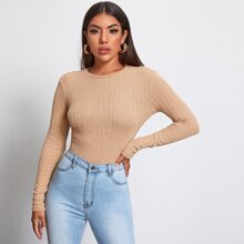 Rib-knit Form Fitted Top