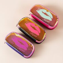 1pc Lip Print Random Pencil Bag