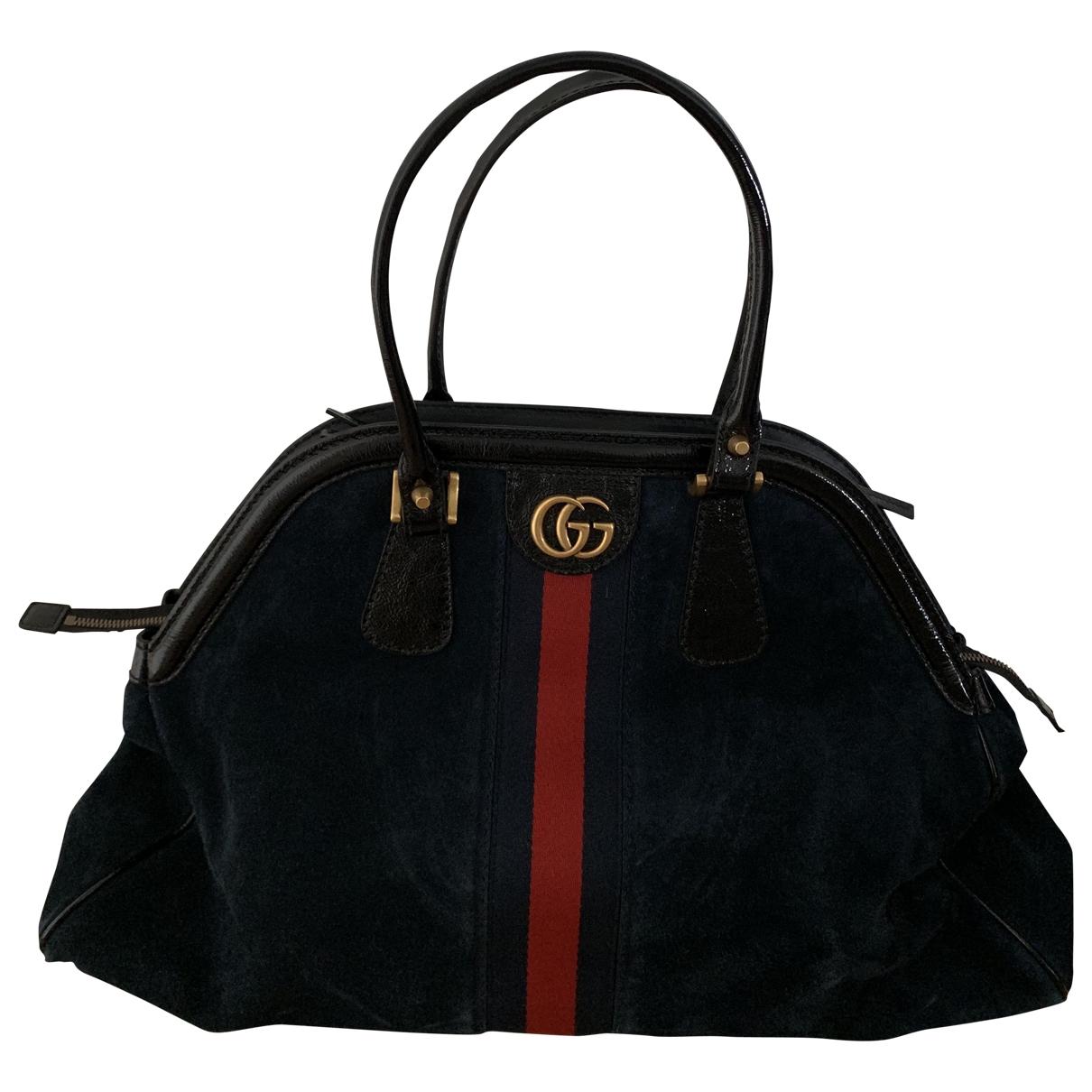 Gucci Re(belle) Handtasche in  Blau Veloursleder