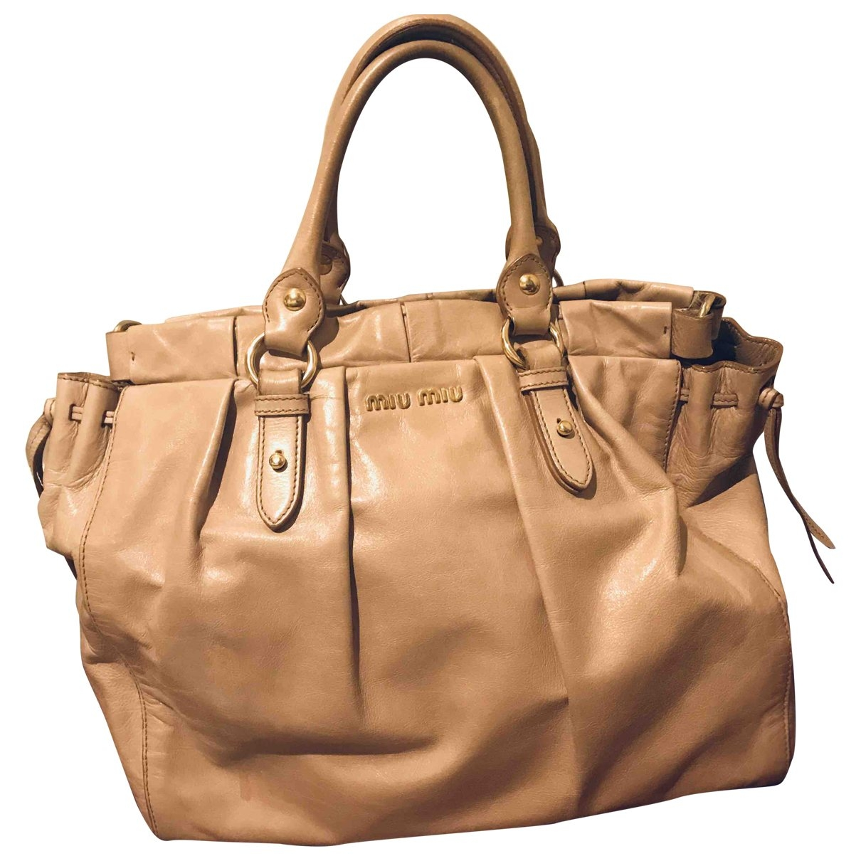 Miu Miu Bow bag Pink Leather handbag for Women \N