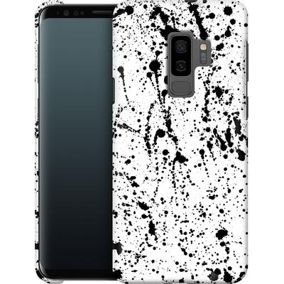 Samsung Galaxy S9 Plus Smartphone Huelle - Splatter Black von Amy Sia