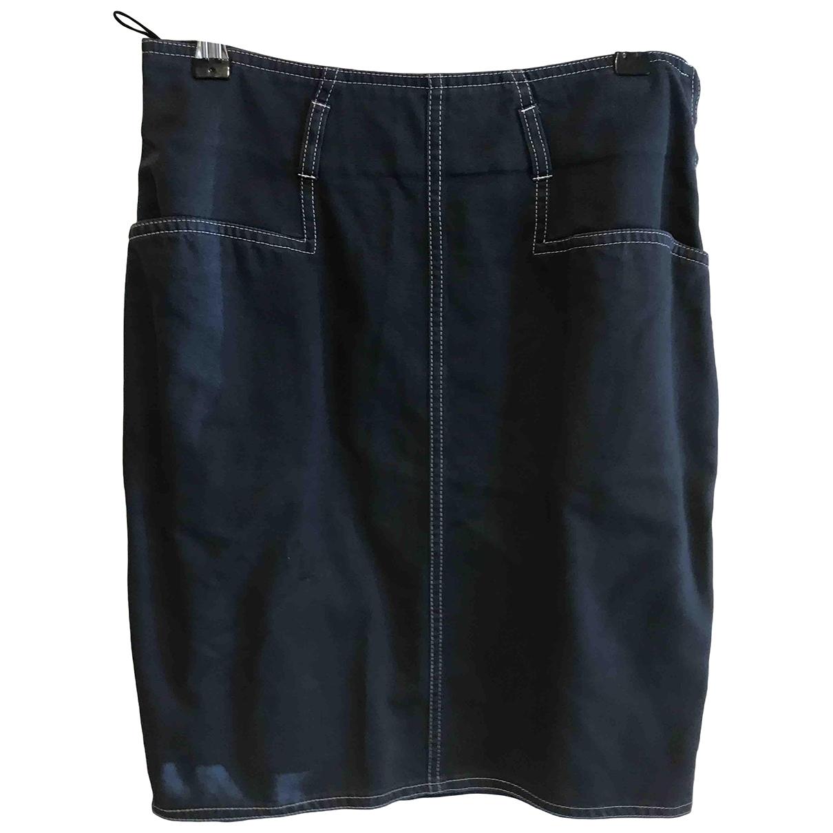 Thierry Mugler - Jupe   pour femme en coton - bleu