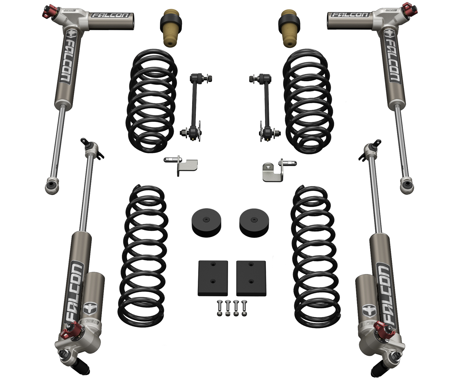 Jeep JKU 4 Door 1.5 Inch Sport ST1 Suspension System w/ Falcon 3.3 Shocks 07-18 Wrangler JKU TeraFlex 1311033
