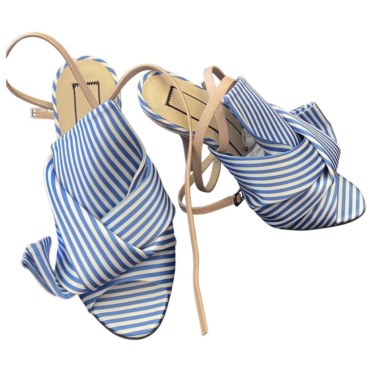 N°21 \N Sandalen in  Blau Leinen