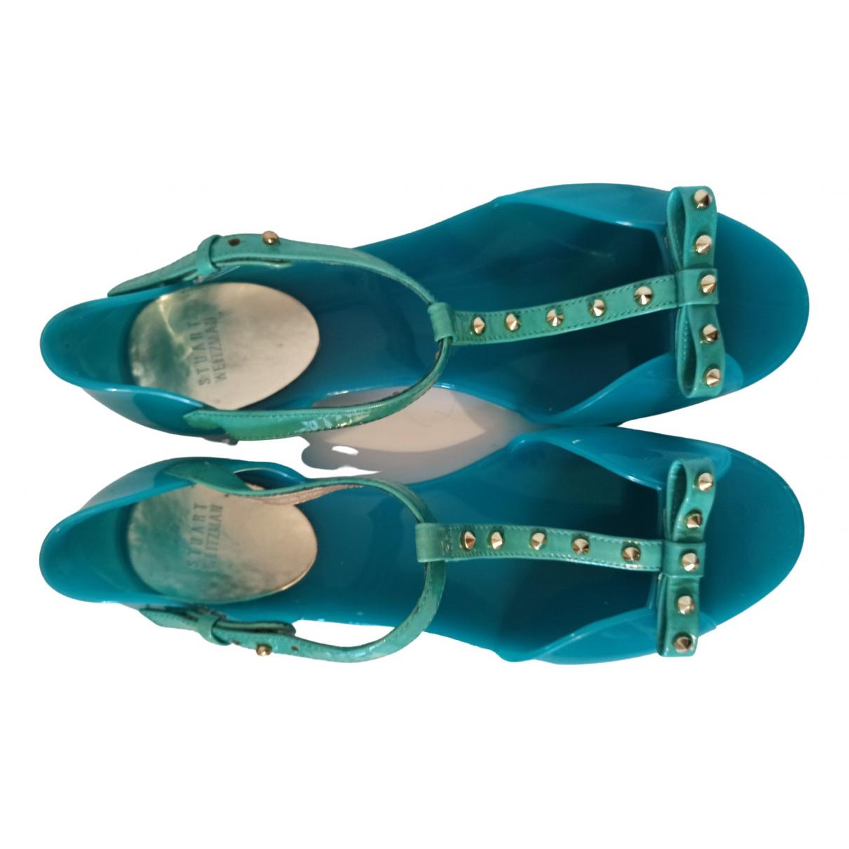 Stuart Weitzman - Sandales   pour femme en caoutchouc - turquoise