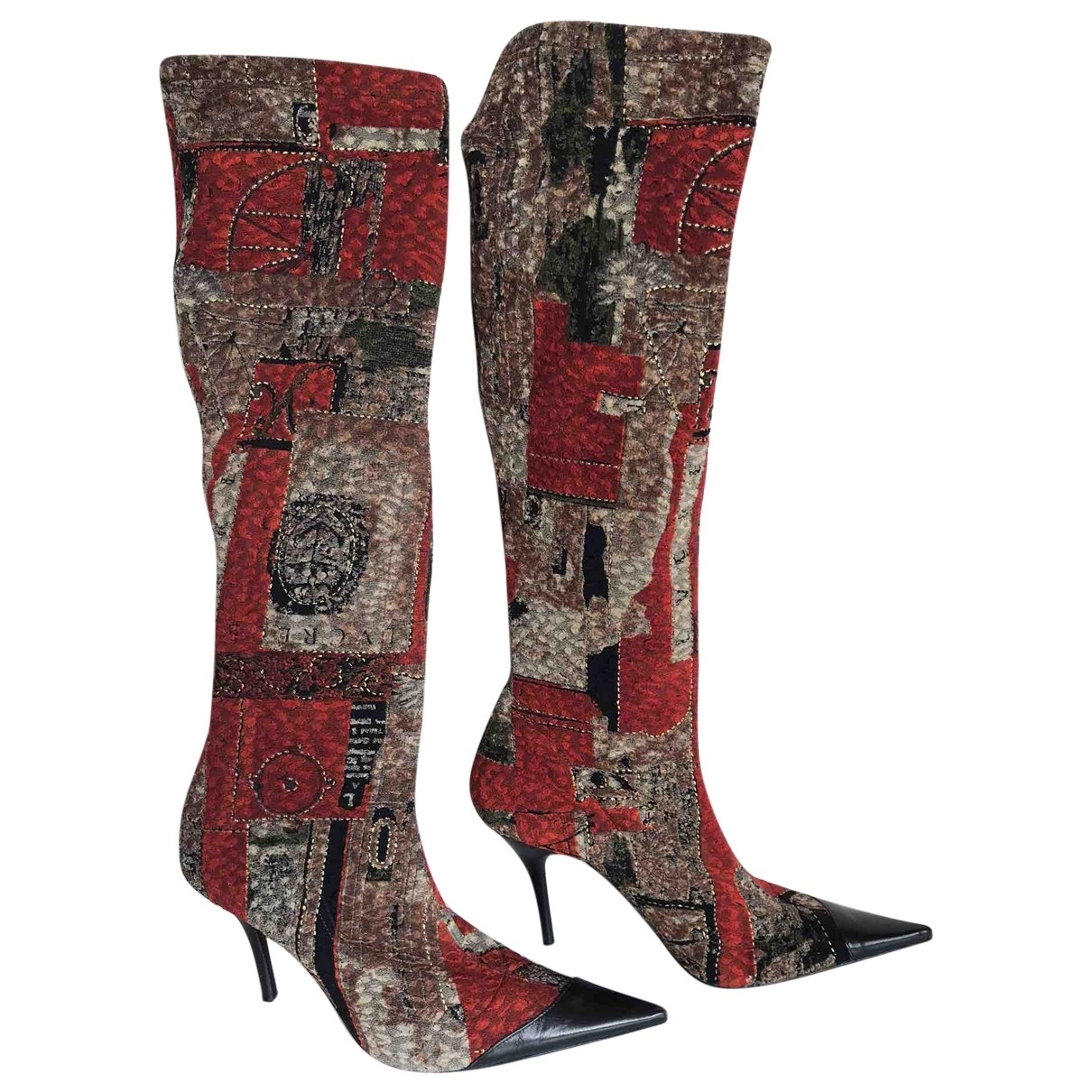 Left & Right - Bottes   pour femme en velours - multicolore
