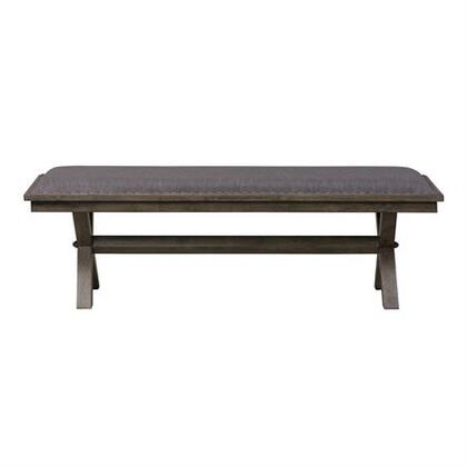 Sonoma Road Collection 473-C9001B Bench with Block Style Pilasters and Feet  Center Supported Slat System and Planked Panels in Weather Beaten Bark