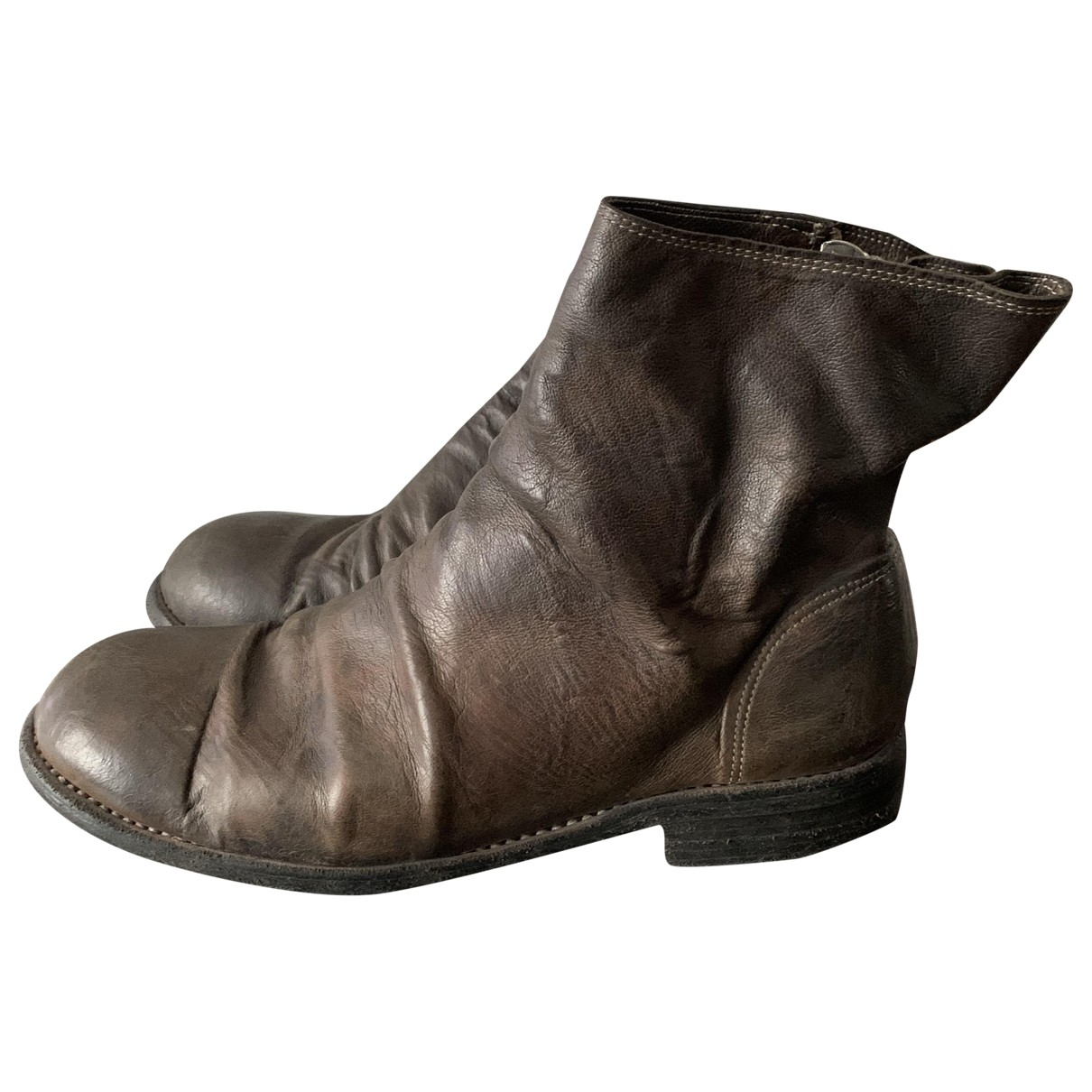 Guidi \N Brown Leather Boots for Men 42.5 EU