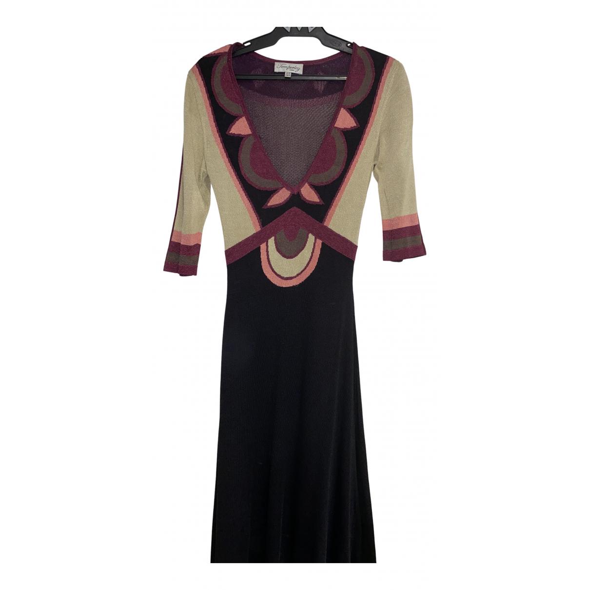 Temperley London \N Kleid in  Schwarz Baumwolle