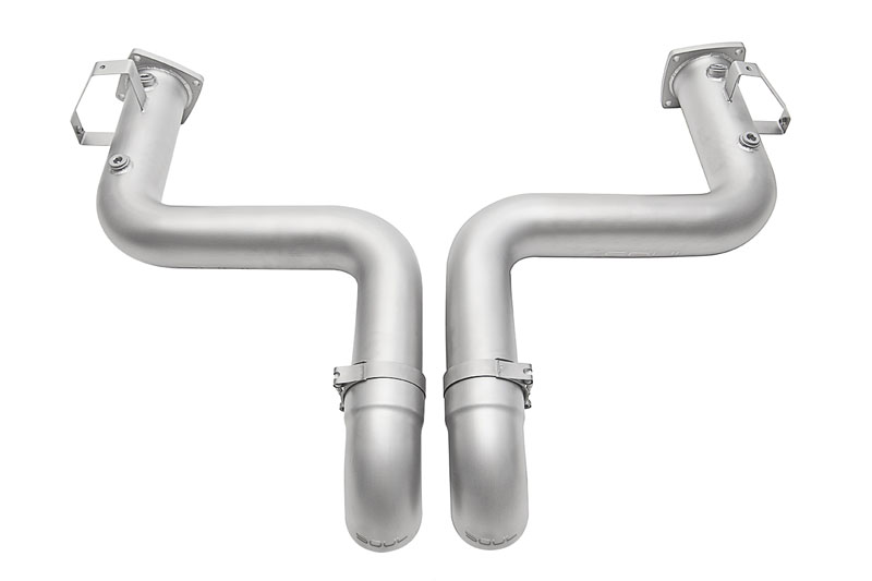 SPP Trackback Turbo Back Exhaust System 3.5 Inch Straight Cut Single Wall Tips Porsche 991.2 Carrera PSE 17-19