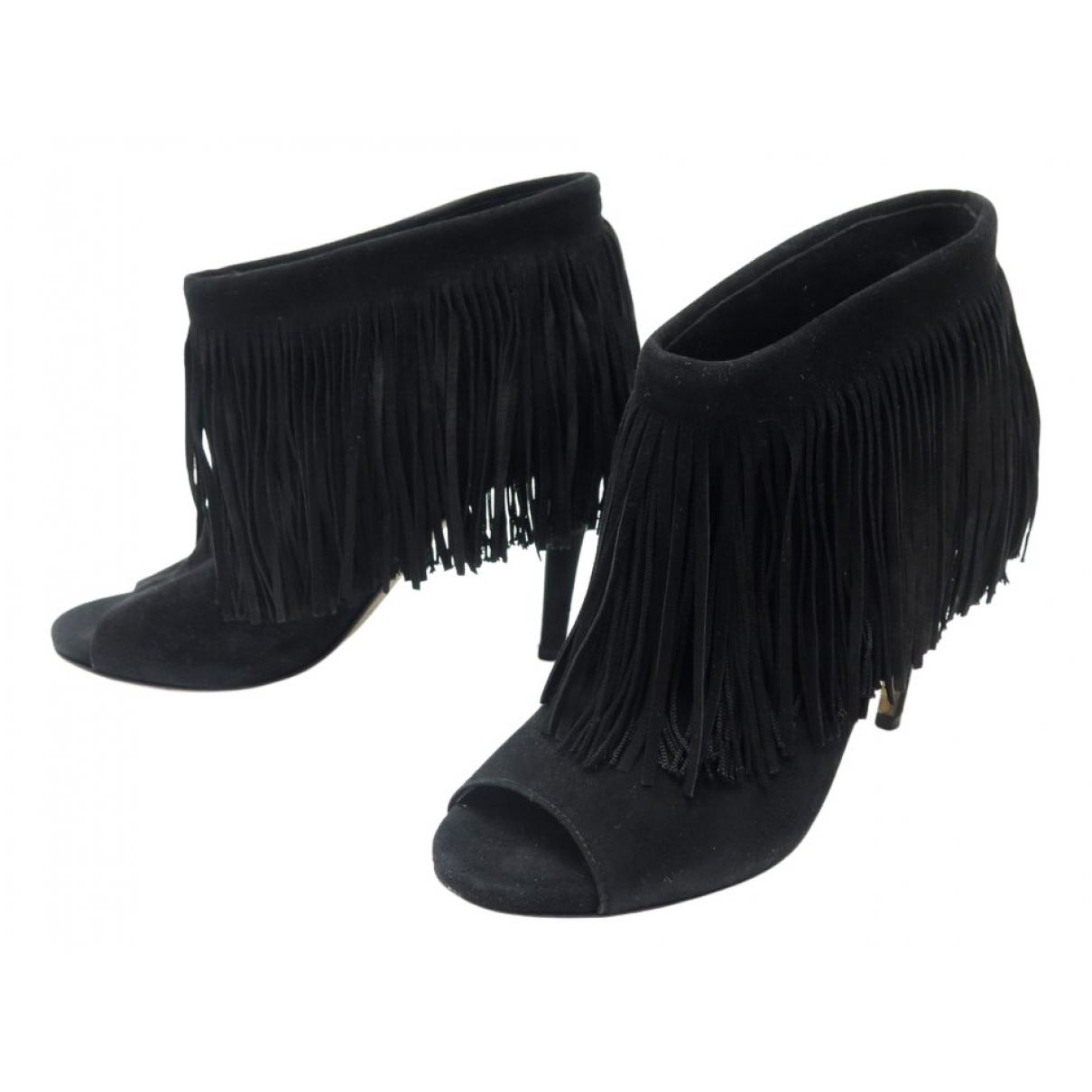 Jimmy Choo N Black Velvet Ankle boots for Women 38 IT