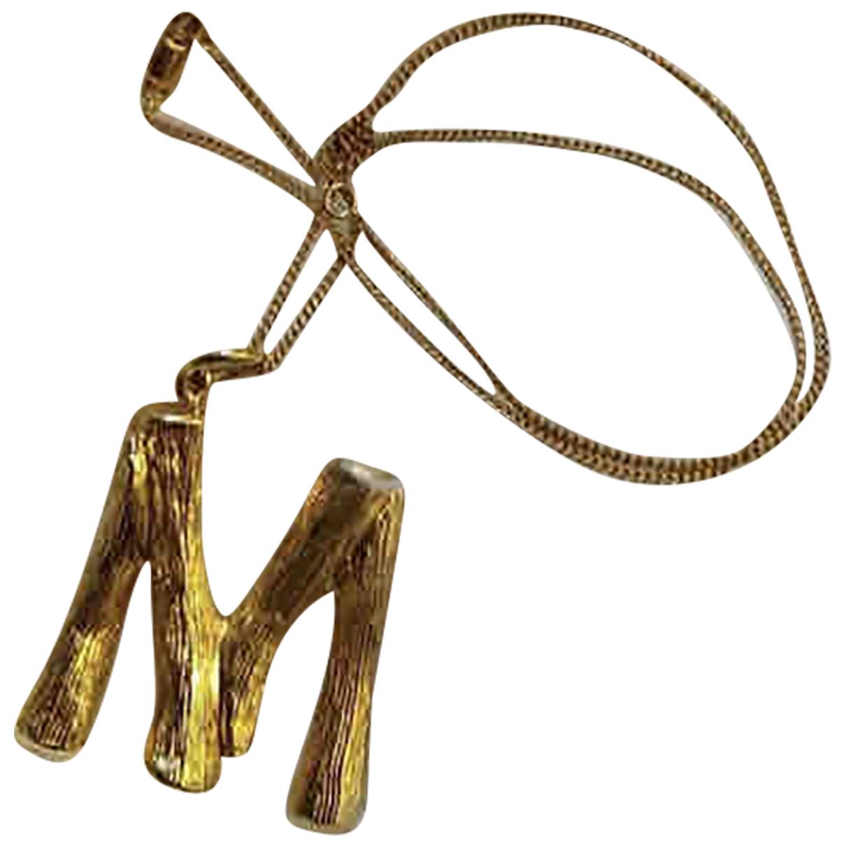 Celine - Pendentif Alphabet pour femme en metal - dore