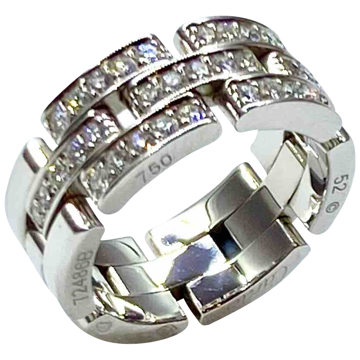 Cartier Maillon Panthère Silver White gold ring for Women \N
