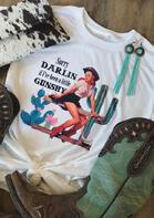 Sorry Darlin If I've Been A Little Gunshy T-Shirt Tee - White