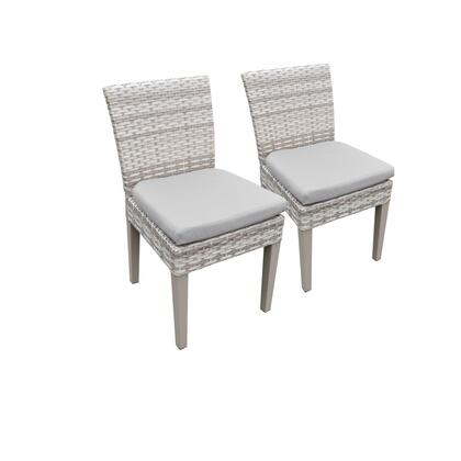 TKC245b-ADC-C-GREY 2 Fairmont Armless Dining Chairs with 2 Covers: Beige and