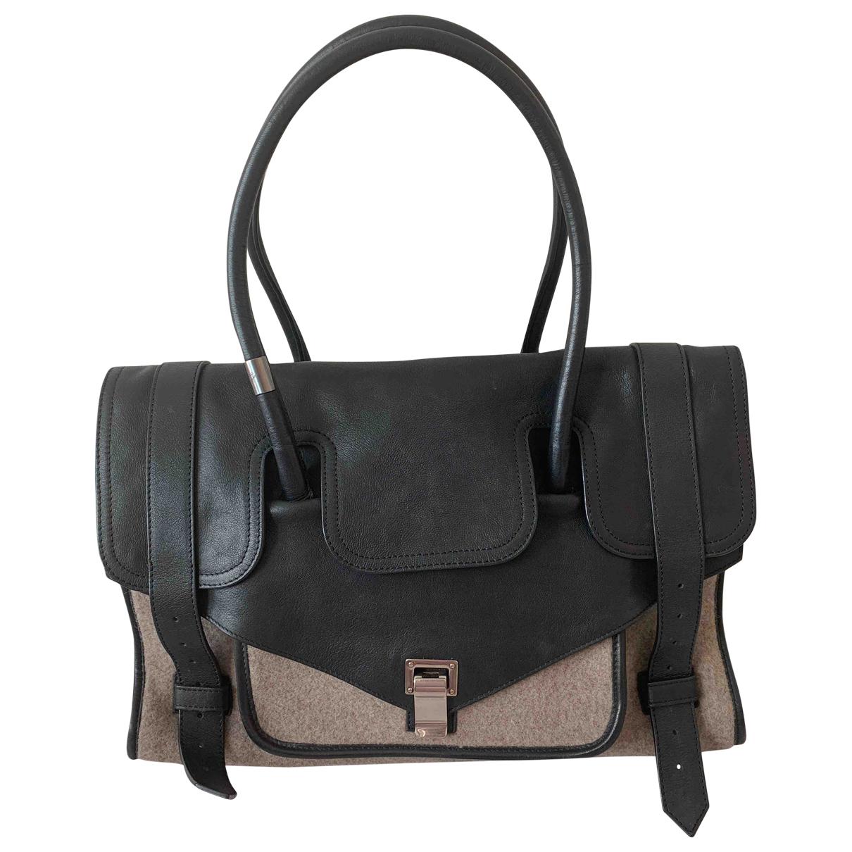 Proenza Schouler - Sac de voyage PS1 pour femme en cuir - noir