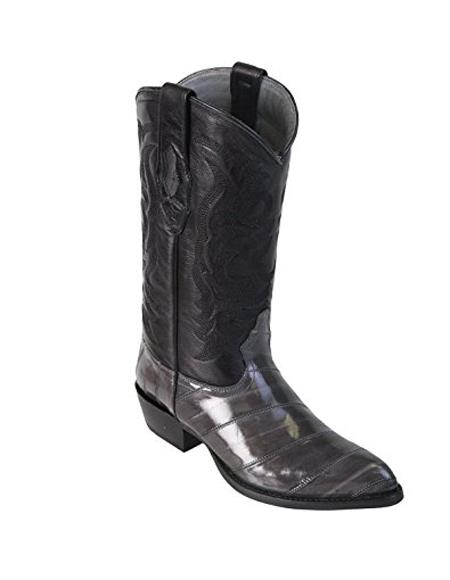 Mens Grey King Eel Skin J-Toe Los Altos Boot Sandle Vamp