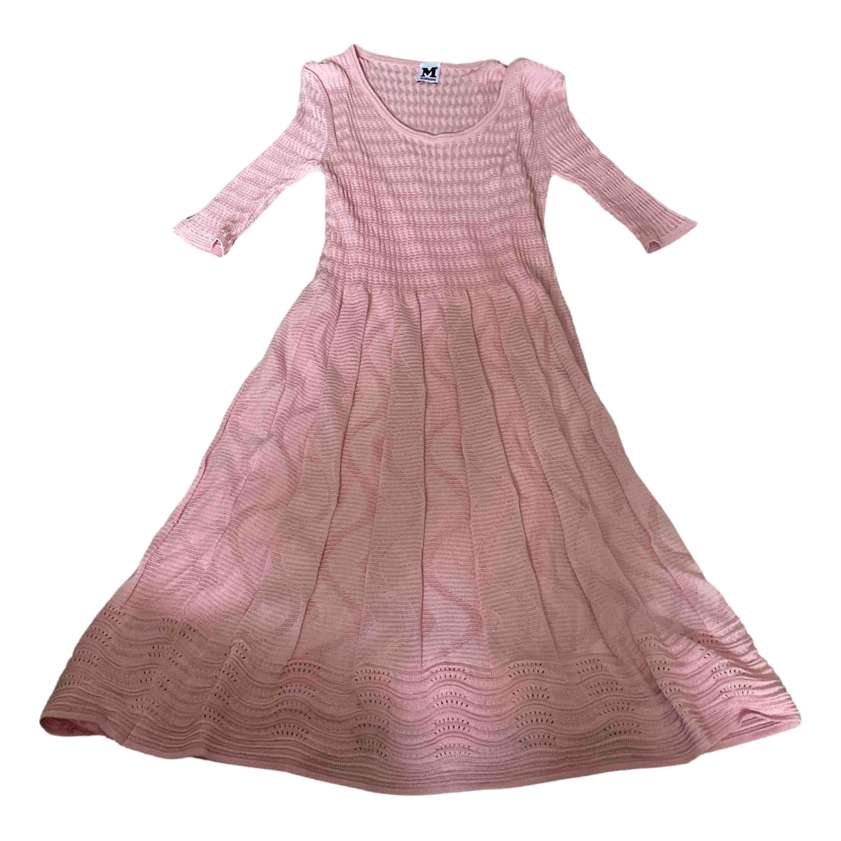 M Missoni \N Kleid in  Rosa Baumwolle